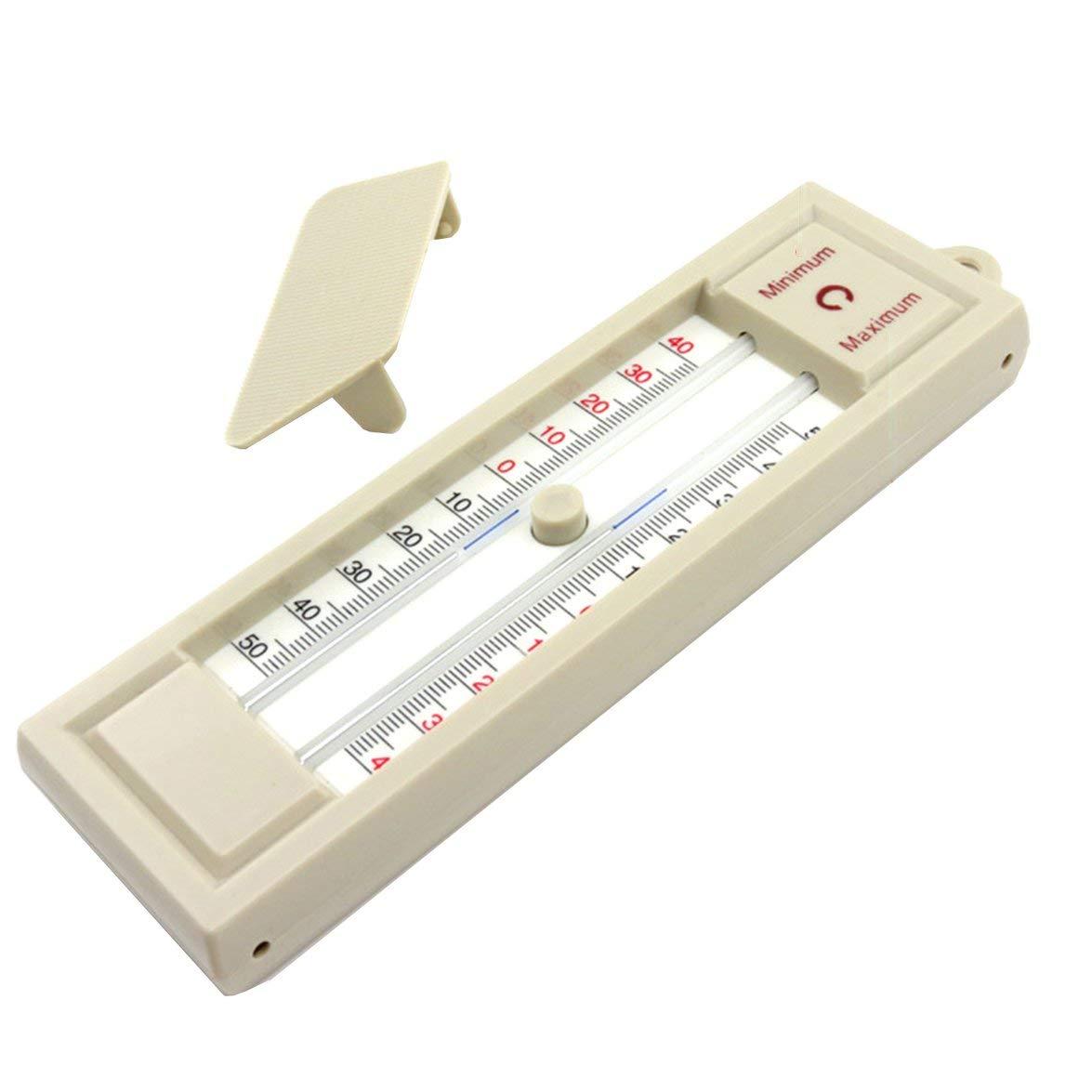 Vinkent Termometro di Massima e Minima Monitor per la Temperatura della Parete della Serra del Giardino Esterno Interno Termometro da 40 a 50 Gradi