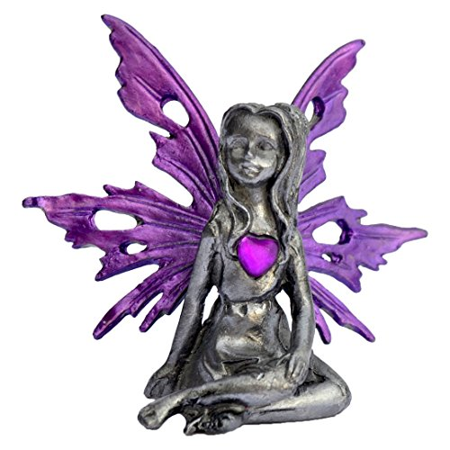 Pixie Glare Birthstone Pewter Fairy. 12 Fairies - Each Represent a Different Month (February)