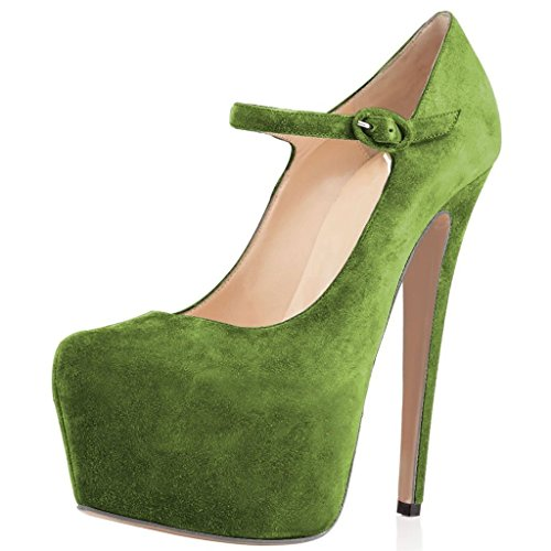 Jane Stiletto Ankle Platform Joogo 7 Heels Mary Dress Shoes Women Size High Strap Pumps Purple Xw00EBrq