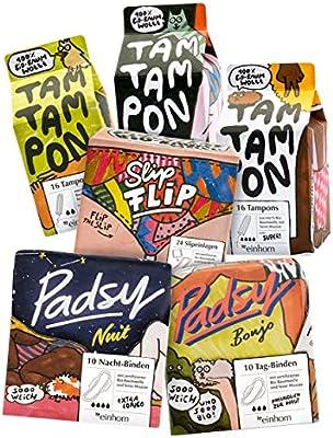 Unicornio de algodón orgánico, juego para menstruación, atar, compresas, tampones: Amazon.es: Salud y cuidado personal