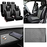 2004 4runner dash cover black - FH Group SUMMER SALE PU003115 Racing PU Leather Car Full Set Seat Covers, Airbag & Split Ready, Gray/Black Color w. FH3011 Silicone Anti-slip Dash Mat - Fit Most Car, Truck, Suv, or Van