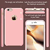 iPhone 6s Case, TORRAS [Love Series] Liquid Silicone Rubber iPhone 6 6S Shockproof Case with Soft Microfiber Cloth Cushion (4.7 inches)-Pink