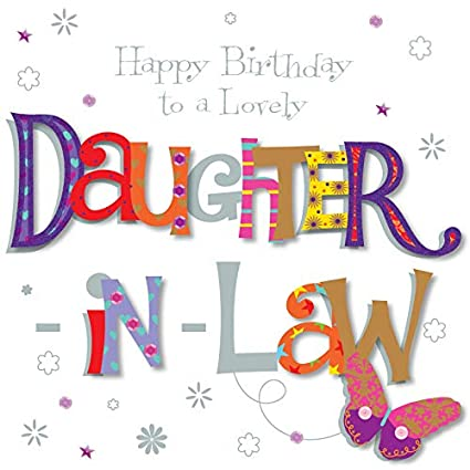 Amazon Lovely Daughter In Law Happy Birthday Greeting Card By