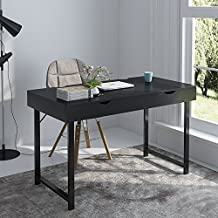 "Soges Computer Desk 47"" PC Desk Office Desk with Drawer Workstation for Home Office Use Writing Table,Black 858-B-ZS-CA"