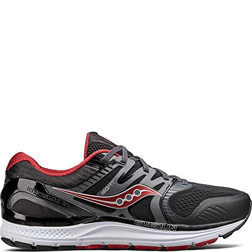Saucony Men's Redeemer Iso 2 Running Shoe, Grey Black, 8.5 W US Review