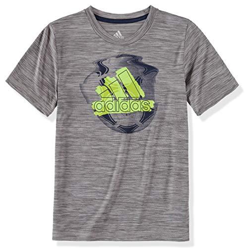adidas Boys' Short Sleeve Graphic Tee Shirt (2T, Grey Heather Sport) ()