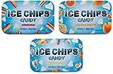 ICE CHIPS Candy 3 Pack Assortment (Cinnamon, Orange Cream, Pina Colada)