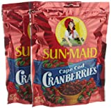 Sun Maid Cape Cod Cranberries, 6-Ounce Bags (Pack of 6)