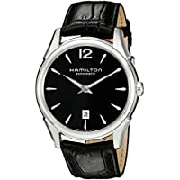 Hamilton Men's H38615735 Jazzmaster Slim Black Dial Watch