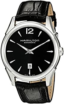 Hamilton Men's Jazzmaster Slim Black Dial Watch
