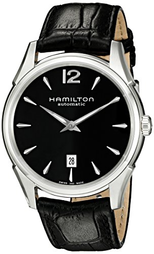 Hamilton Men's H38615735 Jazzmaster Slim Black Dial Watch