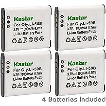 Kastar Battery (4-Pack) for Olympus LI-50B, LI-50C, Pentax D-LI92, DLI92, Panasonic VW-VBX090 and Olympus Stylus,Tough Series, Pentax Optio Series, Panasonic HX-WA03 WA2 WA20 WA3 WA301 Camera