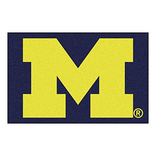 FANMATS NCAA University of Michigan Wolverines Nylon Face Starter Rug (Michigan Football Wolverines Rug)