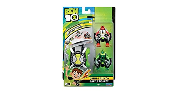 Amazon.com: Ben 10 Omni Launch Battle Figures - Fourarms & Wildvine: Toys & Games