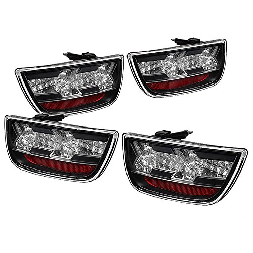 (VIPMOTOZ Premium Full-LED Tail Light Lamp For 2010-2013 Chevy Camaro - Matte Black Housing, Driver and Passenger Side )