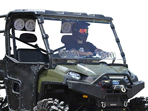 (SuperATV Heavy Duty Scratch Resistant Vented Full Windshield for Polaris Ranger Full Size 570 (2016+) - Hard Coated for Long Life!)