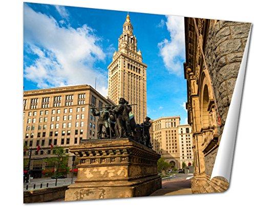 Pedestal Memorial (Ashley Giclee Fine Art Print, Cleveland Civil War Monument, 16x20, AG6365395)
