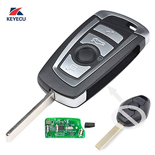 2001 Bmw 325i Car - Keyecu EWS Modified Flip Remote Key 4 Button for BMW X5 Z3 Z4 2001-2005 HU92 Blade