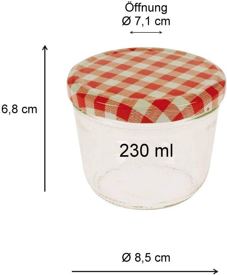 Viva Haushaltswaren/ /Juego de 6/tarros de Mermelada con Rosca, Incluye un Entrada de Embudo 250/ml