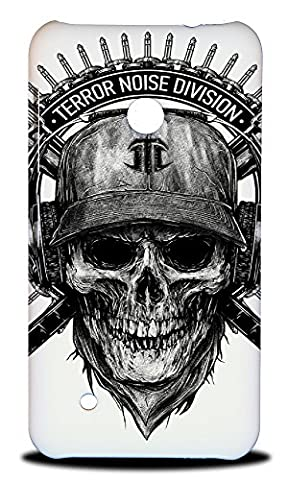 Foxercase Designs Punk Truckie Skull Hard Back Case Cover for Nokia Lumia 530 (Nokia Lumia 530 Back Cover Skulls)