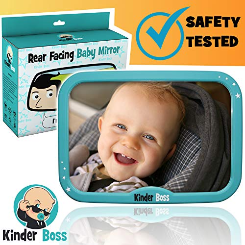 Back Seat Mirror For Baby - Premium Quality - 360 Adjustable View - Suitable For an Infant in a Rear Facing Backseat of a Car - Baby Car Mirror For Newborn Boy or Girl Under 2 Years Old