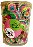 Cat-A-Lack 34-Piece Rainbow Feather Balls in Jar for Pets