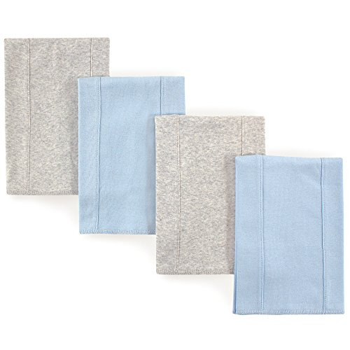 Touched by Nature Baby Organic Cotton Burp Cloths, 4 Pack