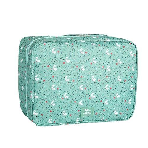 PomPomHome Luggage Packing Tote Layered Finishing Travel Storage Bags Organizer Luggage Suitcase Arrangement Bag (Green Rabbit)