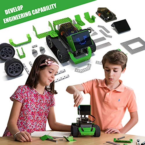 Robobloq Robot Kit, DIY 6 in 1 Advanced Mechanical Building Block with Remote Control for Kids, Educational STEM Toy for Programming and Learning How to Code (Scratch Jr- 3.0 - Arduino, 174 Pieces) by Robobloq (Image #2)