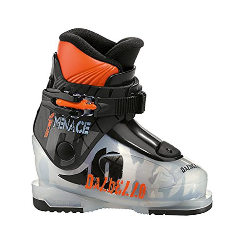 Dalbello Menace 1 Jr Ski Boots Boys' Transparent/Black (Jr Kids Ski Boot)
