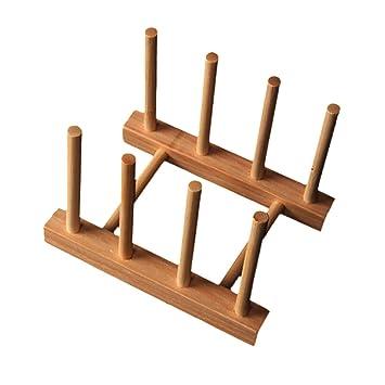 Beliebt Gazechimp Holz Küche Tellerständer Aufsteller Geschirrhalter XR08