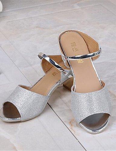 ZQ Zapatos de mujer-Tac¨®n Robusto-Tacones-Tacones-Casual-PU-Plata / Oro , golden-us8 / eu39 / uk6 / cn39 , golden-us8 / eu39 / uk6 / cn39 silver-us7.5 / eu38 / uk5.5 / cn38