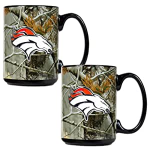 Brand New Denver Broncos NFL Open Field 2pc Ceramic Mug Set