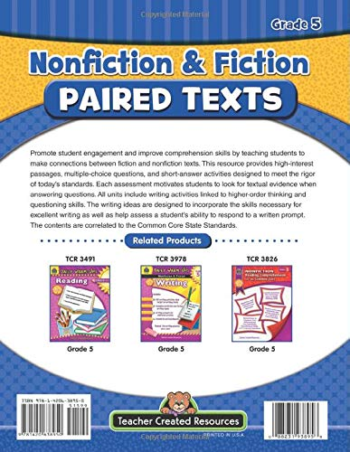 Nonfiction And Fiction Paired Texts Grade 3 Grade 3 Susan