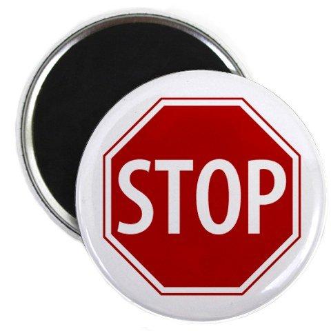 (SERVICE DOG Red STOP SIGN Alert 2.25 inch Fridge Magnet)