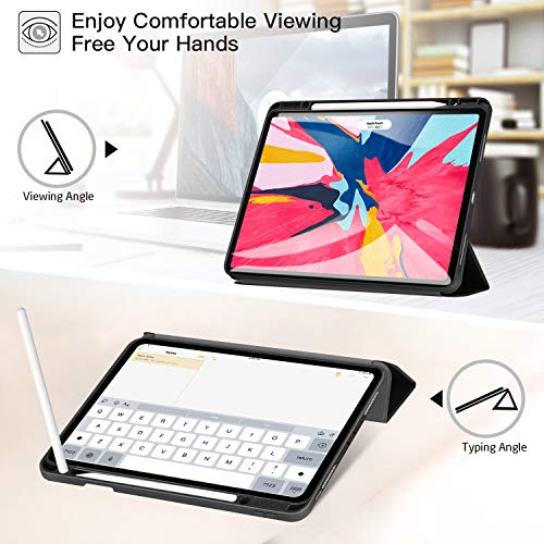 Ztotop Case for iPad Pro 12.9 Inch 2018, Full Body Protective Rugged Shockproof Case with iPad Pencil Holder, Auto Sleep/Wake, Support iPad Pencil Charging for iPad Pro 12.9 Inch 3rd Gen - Black by Ztotop (Image #6)