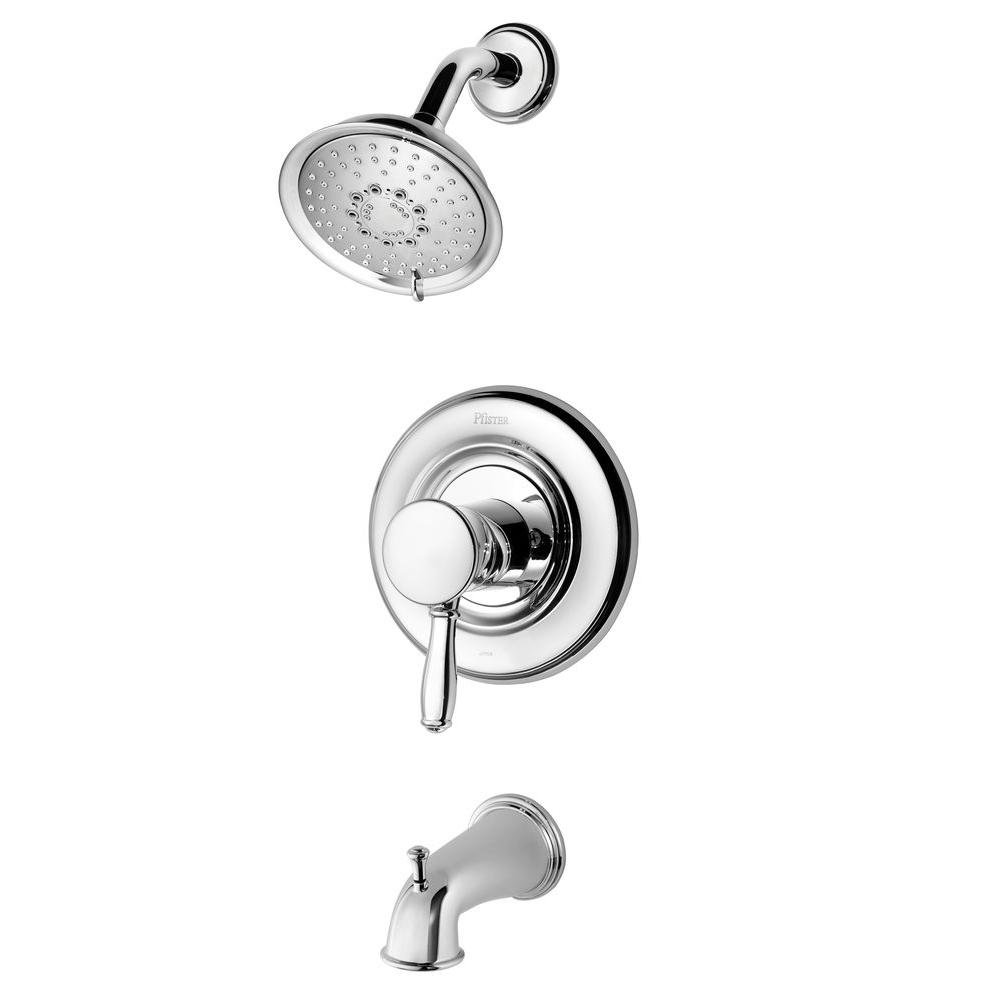 Pfister R90-TD2C Universal Tub and Shower Trim Only Chrome Finish ...