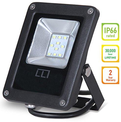 Outdoor Flat Wall Mount (LLT LED FLAT Floodlight 10W SMD Outdoor Landscape Security Waterproof 5000K (Daylight))