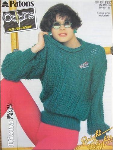 Knitting Pattern Patons 8337 Diana Brushed Chunky Yarn 76 102cms 30