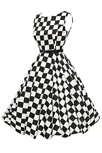 Sisiyer Women's Vantage Polka Dot Bohemian Print Dress Keyhole with Belt Multicolor3 Large