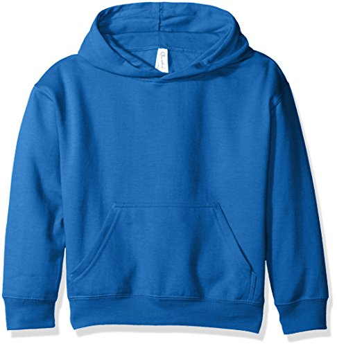 Clementine Apparel Girls' Big (7-16) Apparel Youth Hooded Pullover Sweatshirt with Pouch Pocket, Royal Blue M