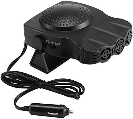 2 In 1 12V 150W Auto Car Heater Portable Heating Fan With Swing-out Handle WT