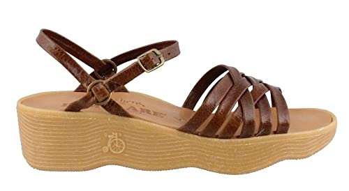 Women'sStrappy Famolare Sandals Brown Camper 9 M 8Nmn0w