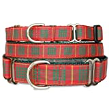 Holiday Plaid Martingale Collar, Cameron Tartan