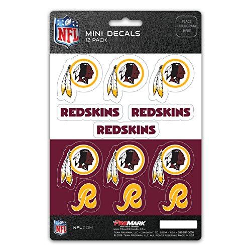 ProMark NFL Washington Redskins DecalDecal Set Mini 12 Pack, Team Colors, One ()