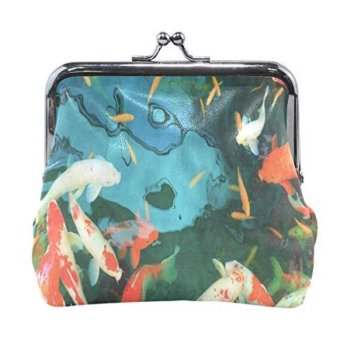 Coin Purse Colorful Koi Fish Ocean Sea Womens Wallet Clutch Bag Girls Small Purse