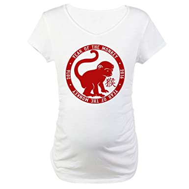 4ece11d09f886 CafePress 2016 Year of The Monkey Cotton Maternity T-Shirt, Cute & Funny  Pregnancy