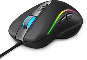 Talentech Ember Plus Ergonomic RGB USB Wired Gaming Mouse(MAX 10
