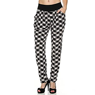 Discount 2LUV Women's Abstract Mosaic Print Harem Pants for cheap