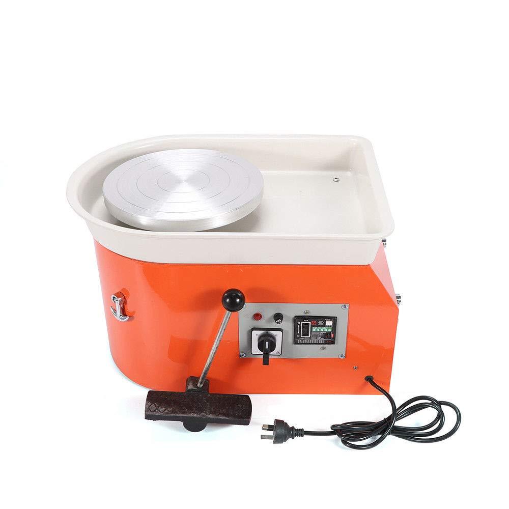 110V 350W Electric Clay Pottery Wheel Machine Kit Ceramic Sculpting Turntable Orange
